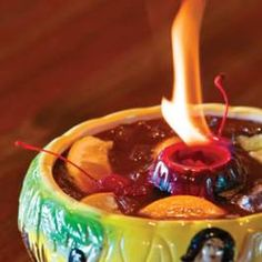Scorpion Bowl ~ {Recipe & Video} My boyfriend and I had 2 of these at our fave Chinese restaurant.. Best drink that will get you buzzed :)