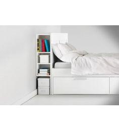 IKEA BRIMNES Headboard with Storage 150CM white