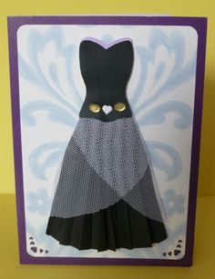 Hand made greetings card: Black dress. For Birthday and other occasions