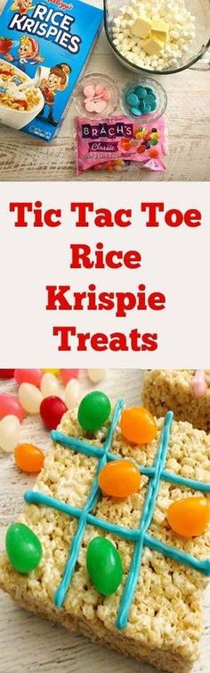 Looking for a fun Easter treat that makes a great game too? These Tic Tac Toe Rice Krispie Treats are tasty to eat and fun to play with too. Here's how to make them!