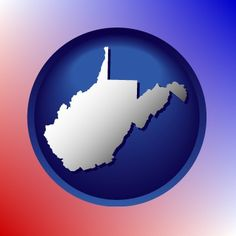 Wild, wonderful West Virginia map icon.