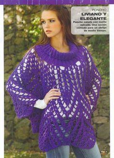 Irish crochet &: PONCHO