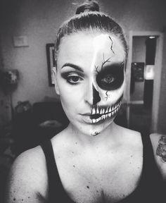 My attempt at a half skull in 20 minutes!