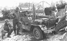 Sanitarios US en Las Ardenas, 1944.