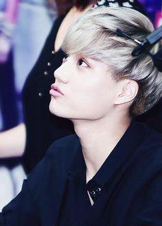 Kai EXO K... Doing the duck face rite :)