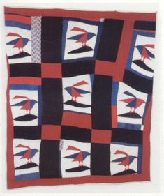 The Blackbirds Quilt by Blanche Ransom Parker c. 1940 in Huntington, TN. hand pieced!