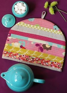 PDF Sewing Pattern Posy Cozies Patchwork Tea Cozy by retromama, $6.00