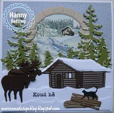 Toen ik dit huisje zag moest ik gelijk aan onze vakantie denken van afgelopen jaar in Zweden, Wij zaten ook in zo'n huisje en de elanden lie...