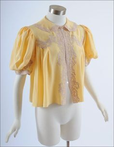 1930s Silk Bed Jacket found on Ruby Lane