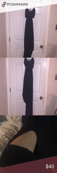 Express cocktail dress, chifon with side cutouts Black size 6 asymmetrical  Express cocktail dress, chifon with side cutouts Express Dresses Asymmetrical