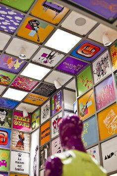 Unique wall ideas at Best Innovative Store Concept with Music Disco-Style Interior Design