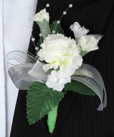 Mini Carnation Boutonniere Mini Carnations are cute and fun #Labola.co.za
