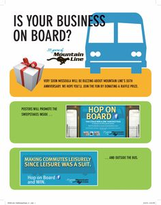 Is your business on board?  Call Mountain Line 543-8386