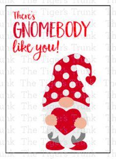 Printable Valentine Card My Favorite Gnomie Printable | Etsy