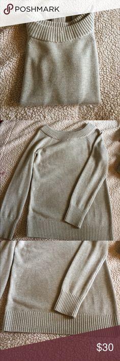 Banana Republic Sweater Soft Banana Republic Sweater. Beige color, EUC, size medium. The neck is a little wider than a crew neck. Banana Republic Sweaters Crew & Scoop Necks