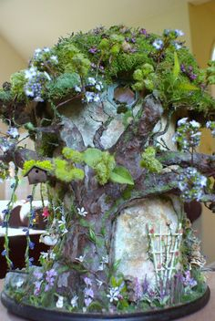 enchanted fairies | Fairy House OOAK (Enchanted Bunny Hollow) | Faeries