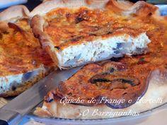 Quiche de Frango e Hortelã Quiches, Toast, Breakfast, Ethnic Recipes, Food, Chicken Quiche, Noodle, Recipes, Entrance Halls