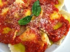 Fresh Lemon Ricotta Ravioli... I had this in Florence and it was one of the best foods I have ever eaten