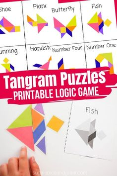 Printable Tangram Puzzles for Kids
