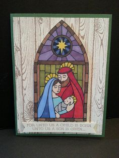 Gentle Peace and Hardwood Religious Christmas Cards, Christmas Paper Crafts, Stampin Up Christmas, Christmas Nativity, Xmas Cards, Kids Christmas, Handmade Christmas, Holiday Cards, Christian Cards