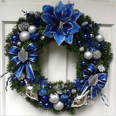 Last Trending Get all jewish christmas decorations Viral etsy blue wreath Christmas Tree Lots, Silver Christmas Decorations, Christmas Hanukkah, Christmas Crafts, Happy Hannukah, Holiday Wreaths, Holiday Decor, Hanukkah Decorations, Party Decoration