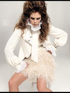 YVETTE HASS feather mini skirt in Lifestyle Magazine