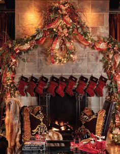 Spectacular Christmas Mantel