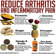 Reduce artritis, dolor e inflamación.