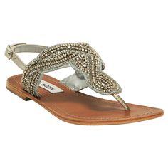 Steve Madden Shiekk Embellished Flat Sandal #VonMaur