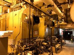 December 2017 – The old three boilers were drained before demolition. The capacity of each boiler ranged from 18 MMBTU to 22 MMBTU. Just one of these boilers was sufficient for the campus's peak winter heating load. Joining The Navy, Boiler, The Rock, Plumbing, Old Things, Activities, Room, House, Bedroom