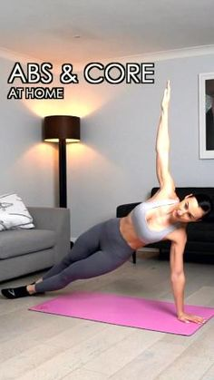 Abs Workout Video, Flat Belly Workout, Ab Workout At Home, At Home Workouts, Training Apps, 6 Pack Abs, Workout Bauch, At Home Abs, How To Get Abs