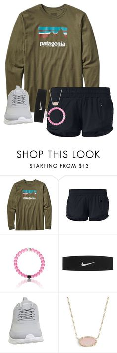 """i'm so tired"" by abby14310 ❤ liked on Polyvore featuring Patagonia, lululemon, NIKE and Kendra Scott"