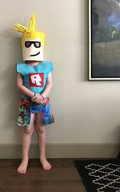 Cool Homemade Roblox Costume Of My Sons Avatar Coolest Homemade