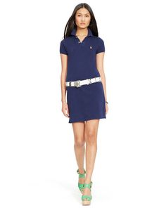 b0c44da55101d Mesh Polo Mini Shirtdress - Polo Ralph Lauren Short Dresses - RalphLauren .com