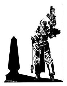 Sister of battle by Tom Kelly on the web at TomKellyART.deviantart.com on @DeviantArt