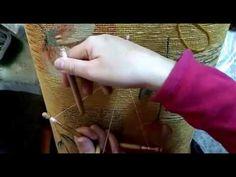 Bolillos, hojas de guipur - YouTube