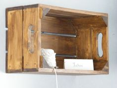 Wooden apple crates for general storage,a wall feature or as planters for flowers or herbs