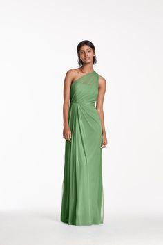 Green Long Mesh Dres
