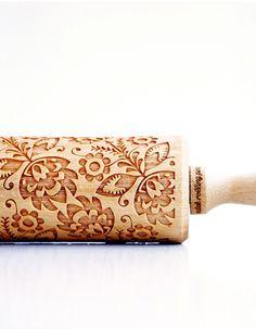 Laser-Engraved Rolling Pins Imprint Whimsical Designs onto Cookie Dough - My Modern Met Polish Folk Art, Shops, Thing 1, Kitchenette, Laser Engraving, Cookie Dough, Whimsical, Sweet Treats, Etsy Shop