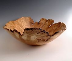 Large Cherry Burl Wood Turned Bowl - Artistic - Lathe Turned - Wood Turning. $225.00, via Etsy.