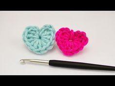 Kleines Herz häkeln | Super einfache Anleitung für Anfänger | Häkeln mit Wollresten | ♥ DIY - YouTube