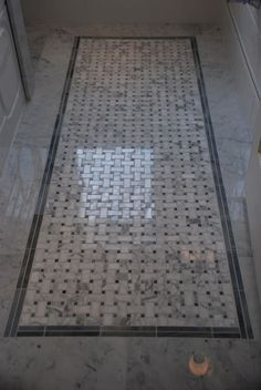 Basketweave floor tile from Saltillo Tiles Toronto - marble and moonstone