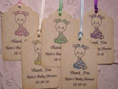 Giraffe Baby Shower / Baby Shower Favor Tag / Baby Shower Tag / Party Favor Tag / Baby Shower Gift Tag / Personalized Tag - set of 20 - Hand