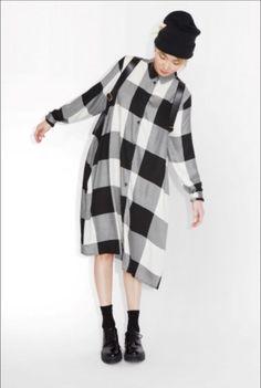 Monki Oversized Black White Gingham Check Dress Shirt Longline Boyfriend Size L in Clothes, Shoes & Accessories, Women's Clothing, Dresses | eBay