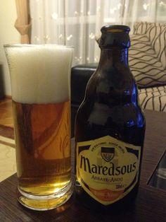 #128 Maredsous Blonda ⭐⭐⭐⭐ Este o bere de fermentatie inalta, fabricata dupa traditia Benedictina a comunitatii Manastirii Maredsous, berea este fermentata in sticla pe parcursul a 2 luni.