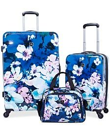 Tag Pop Art Hardside Spinner Luggage Set, Created for Macy's - Midnight Garden Luggage Backpack, Travel Luggage, Travel Bags, Luxury Luggage, Luggage Trolley, Trolley Bags, 3 Piece Luggage Set, Luggage Sets, Luggage Brands