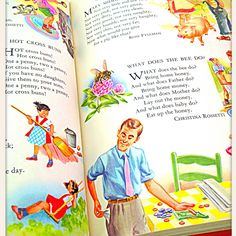 """Although we have ipads & kindles... I still prefer the """"feel"""" of a book or magazine in my hands. Love the graphics in these Childcraft books! www.etsy.com/shop/HarvestLaneVintage"""