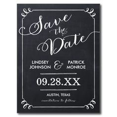 Chalkboard Script Modern Typography Save the Date Postcards so please read the important details before your purchasing anyway here is the best buyReview          Chalkboard Script Modern Typography Save the Date Postcards please follow the link to see fully reviews...