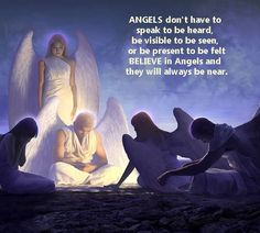 Angels don't have to speak to be heard, be visible to be seen, or be felt BELIEVE in Angels and they will always be near. Psalm 91 11, Angels In Heaven, Heavenly Angels, Angel Guide, Angel Drawing, I Believe In Angels, My Guardian Angel, Magic Spells, Thoughts And Feelings