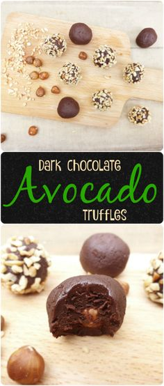 Dark Chocolate Avocado Hazelnut Truffles - these have no refined sugar and only FOUR ingredients! #avocado #healthy #foodblogger #recipe